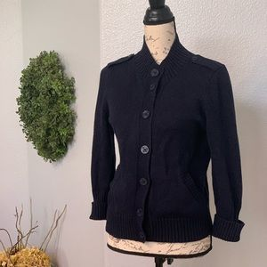 Nautical accents Talbots cardigan size SP